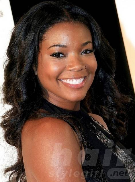 Gabrielle Union Long Black Hairstyle for Black Women