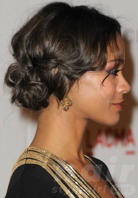 Side View of Prom Hairstyles for Black Women