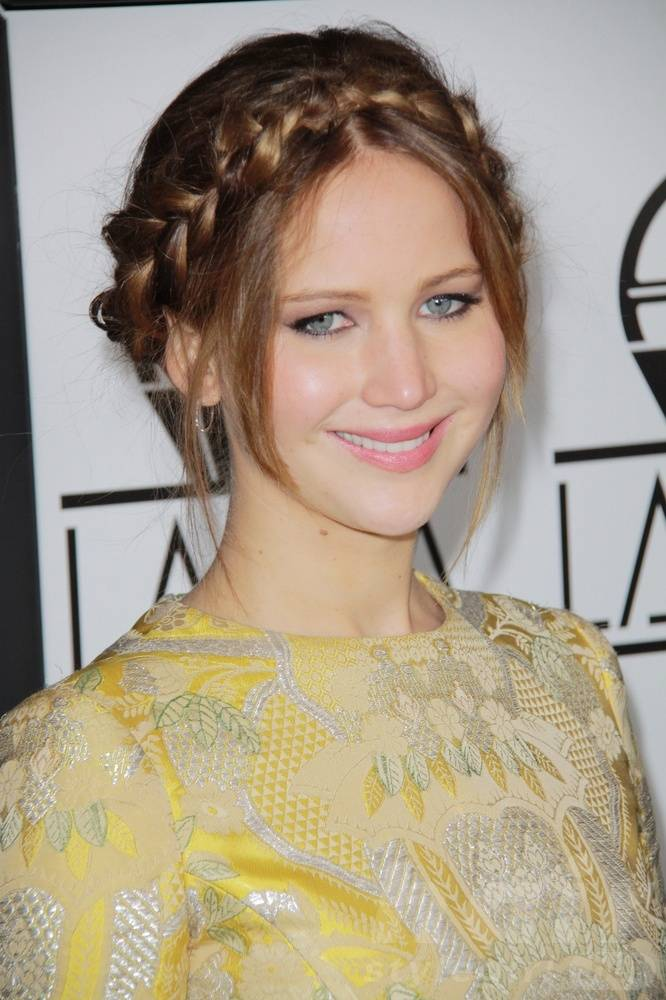 Braided Up-do Hairstyle for Round-shaped Women