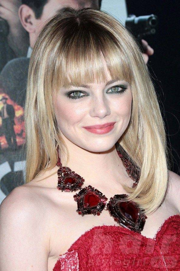 Long Hairstyle with Bangs for Round-shaped Women