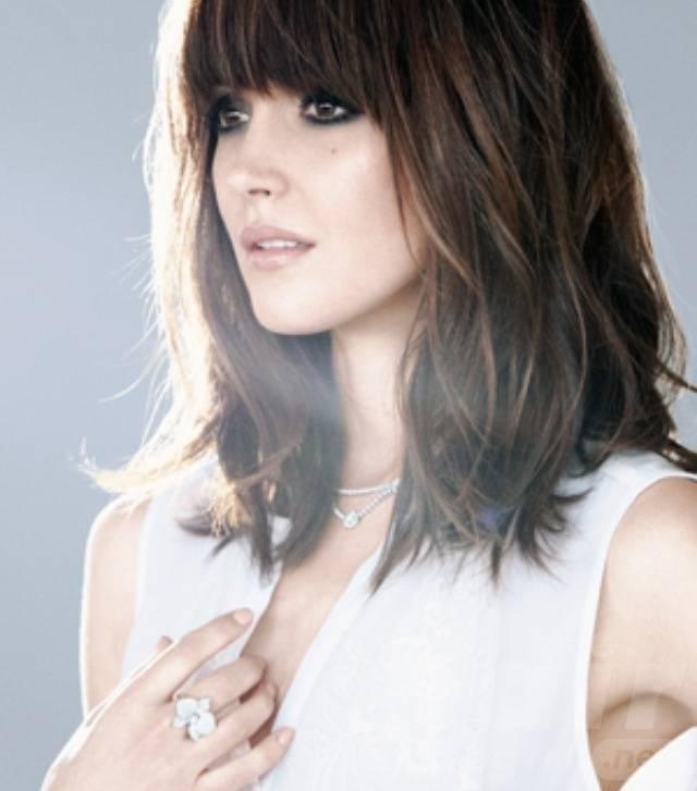 Bangs on Medium Length Hairstyle