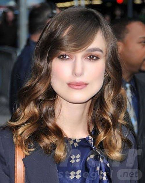 Bangs on Wavy Hairstyle