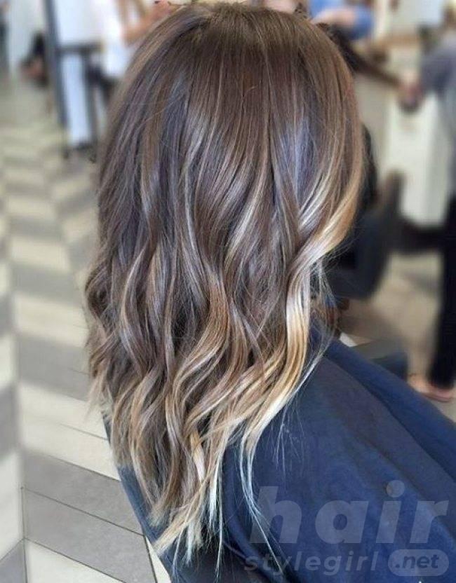 Balayage Highlights for Long Layered Brown Hair