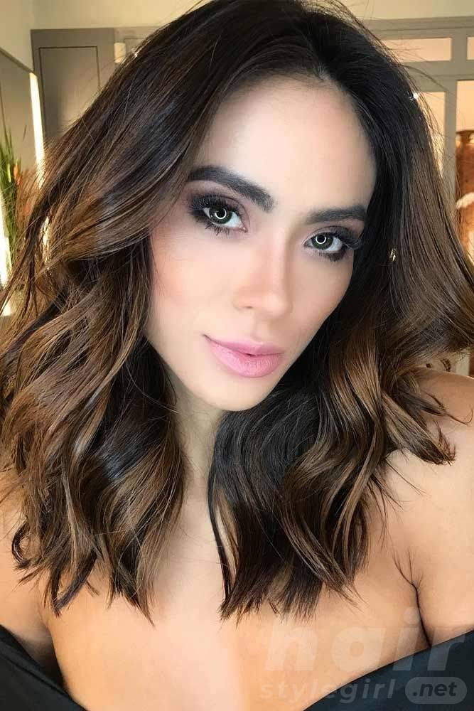 Brown Balayage Wavy Hair