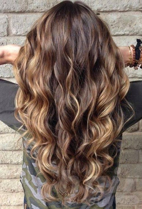 Caramel Balayage Long Curly Hair