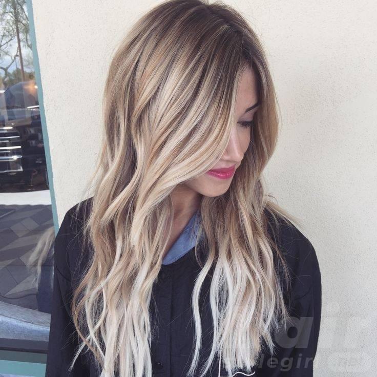 Side Swept Balayage Long Wavy Hair
