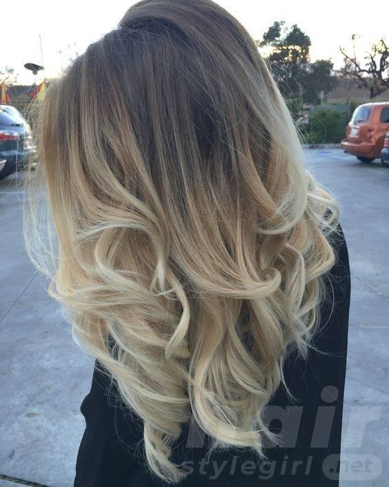 Dark to Light Blonde Balayage Hair