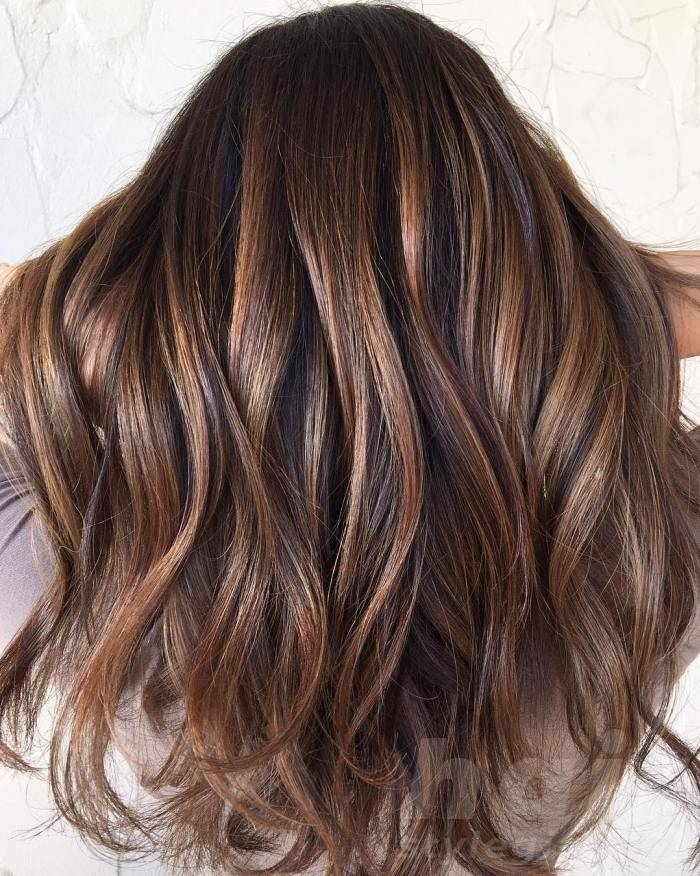Sleek Back Balayage Hairstyle
