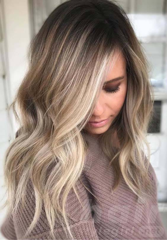 Angel Balayage Hairstyle