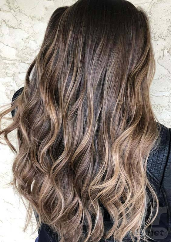Chocolate Brown Balayage Hairstyle