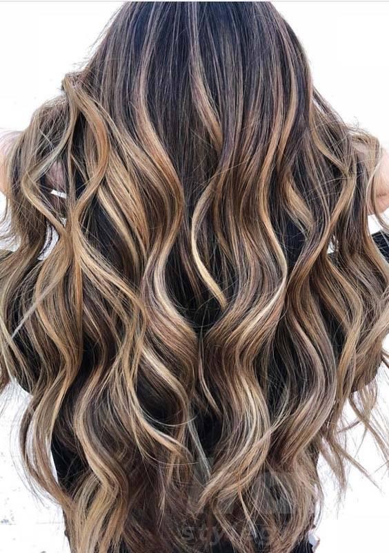 Brunette Balayage Hairstyle