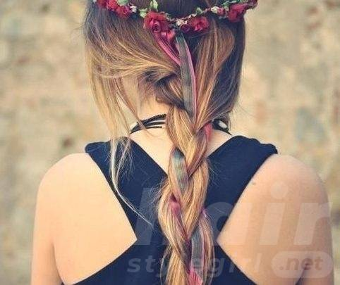 Braided Hairstyle with Belt