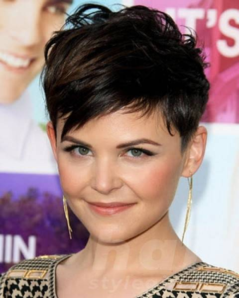 Brown Short Shag Hairstyle