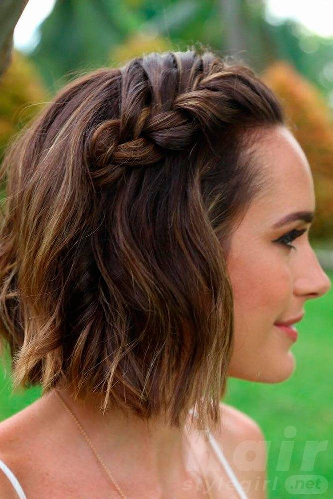Easy Short Braided Hairstyle