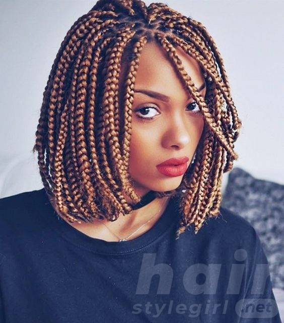 Golden Braided Bob