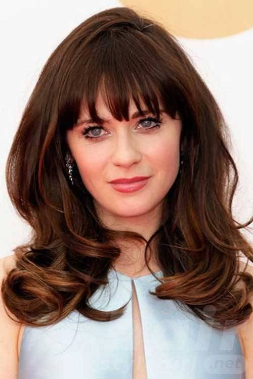 Thick Brunette Hair with Bangs