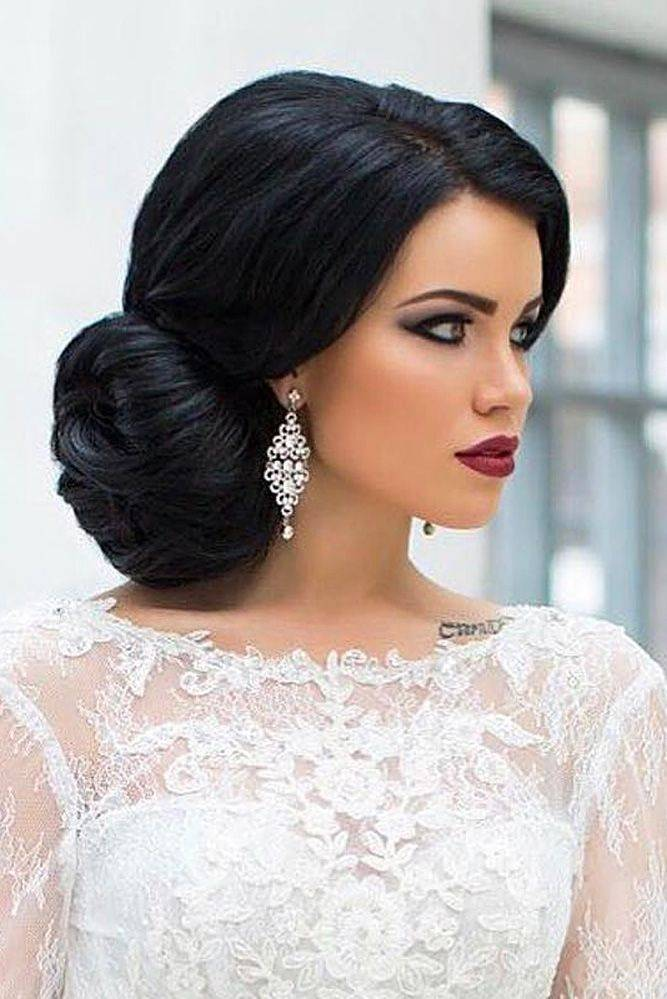Side Parted Vintage Wedding Hairstyle