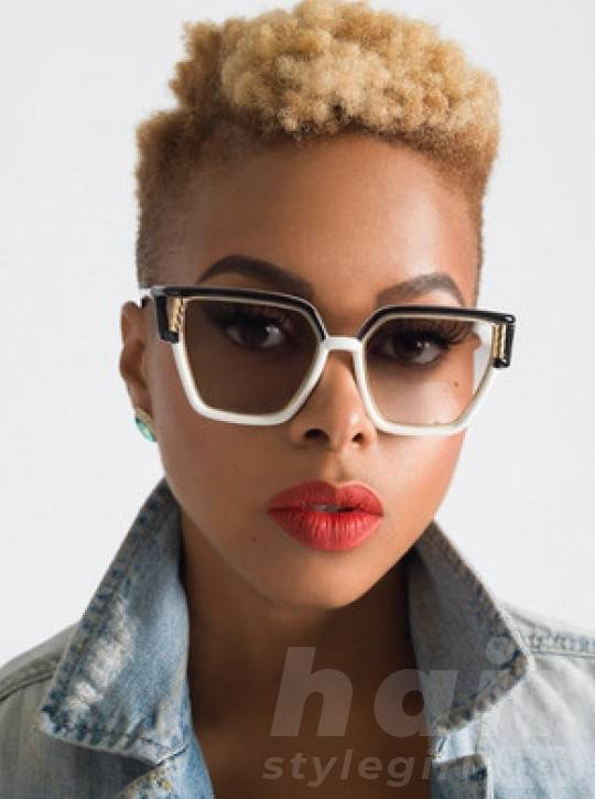 Chrisette Michele Short Curly Hairstyle