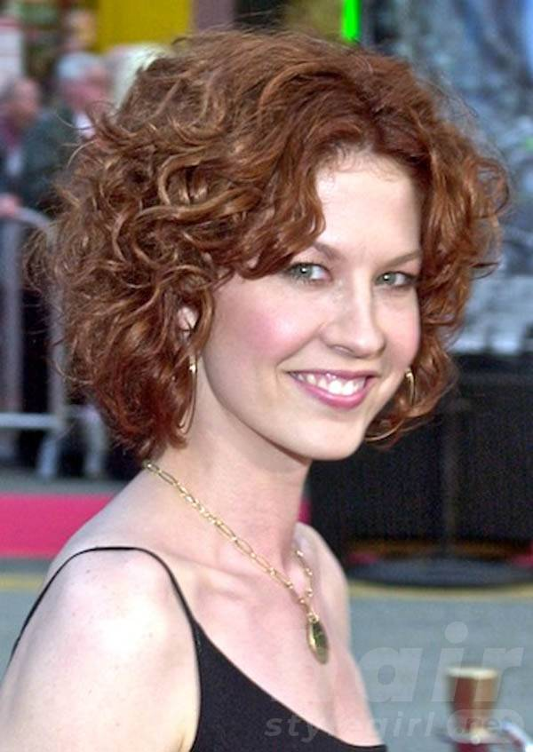 Center Parted Curly Hairstyles for Women