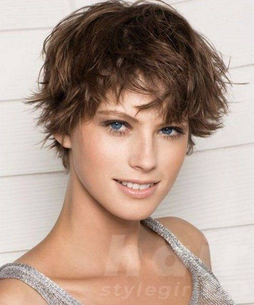 Short Curly Hairstyle with Bangs