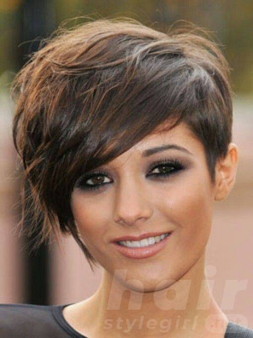 Wavy Short Hairstyle with Bangs