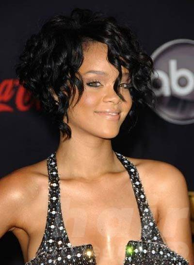 Black Curly Short Wavy Hairstyle