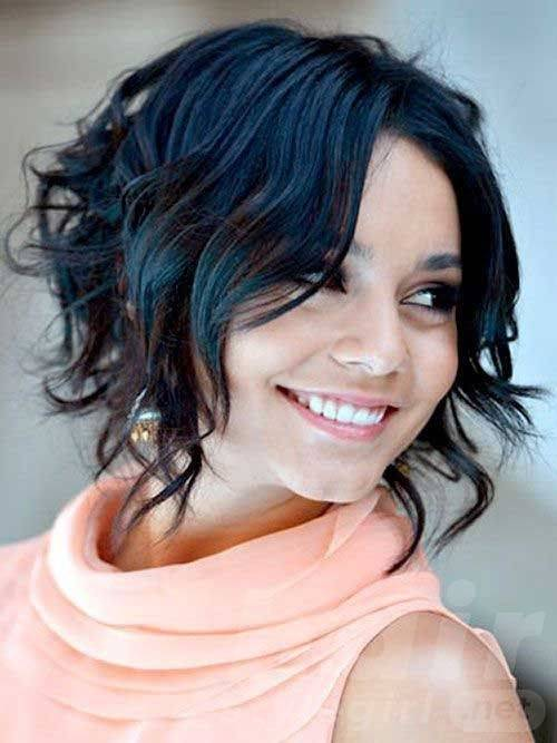Black Short Wavy Bob Hairstyle