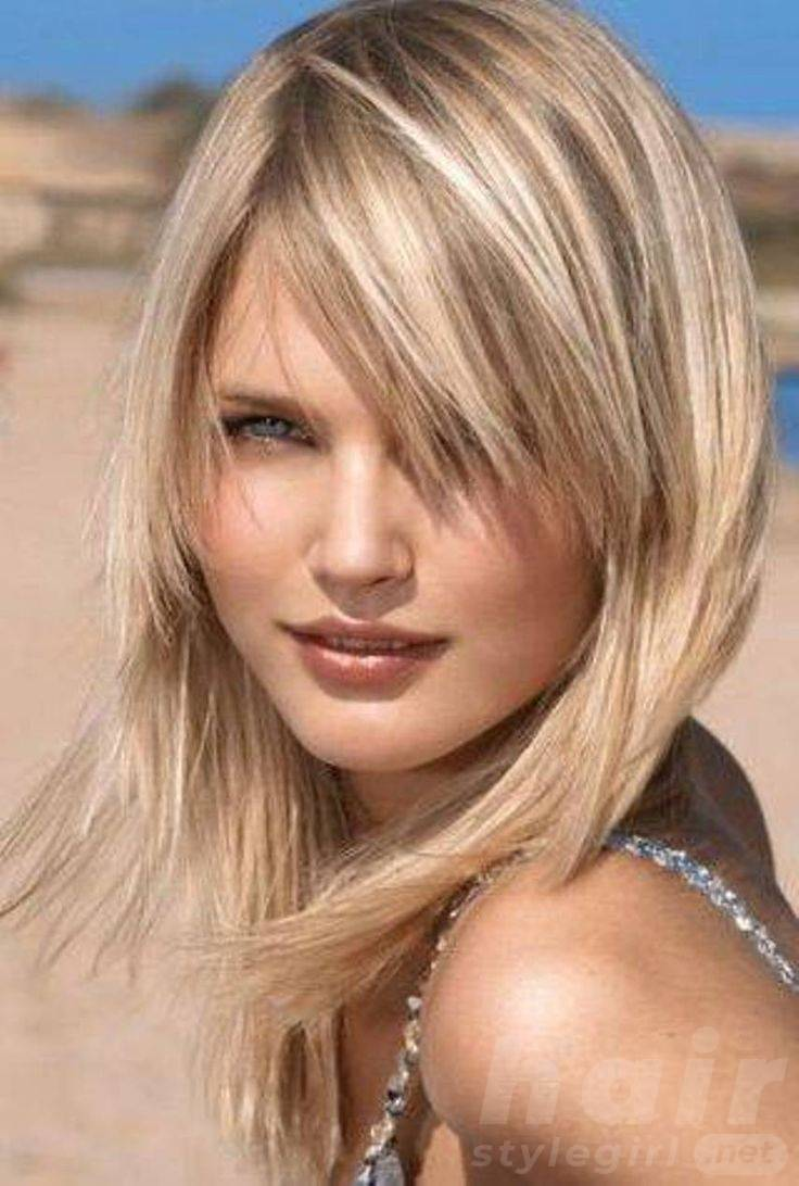 Blond Mid-length Shaggy Hairstyle