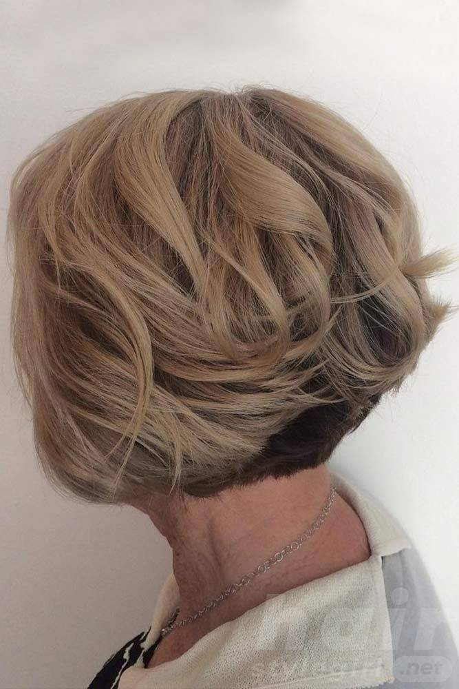 Layered Blonde Bob Haircut