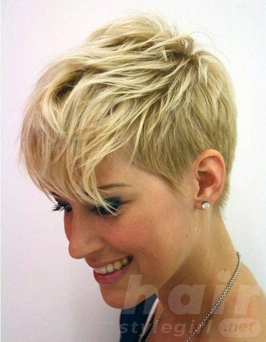 Blond Short Pixie Haircut
