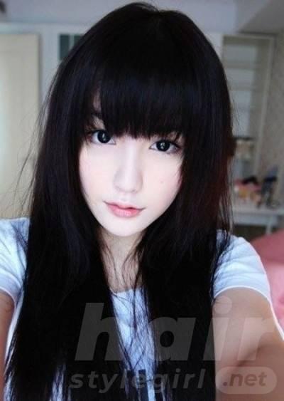 Black Asian Style Long Hair