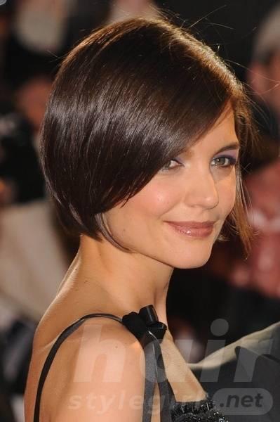 Brunette Short Bob Hairstyle