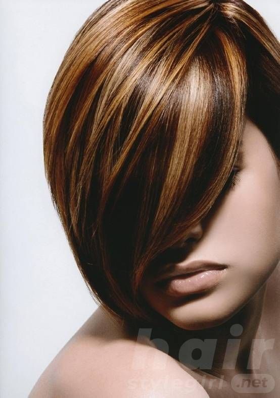 Black Short Straight Hairstyle with Long Side Bangs
