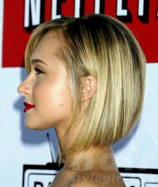 Cute Stacked bob Haircut - Side View of Graduated Bob Hairstyle