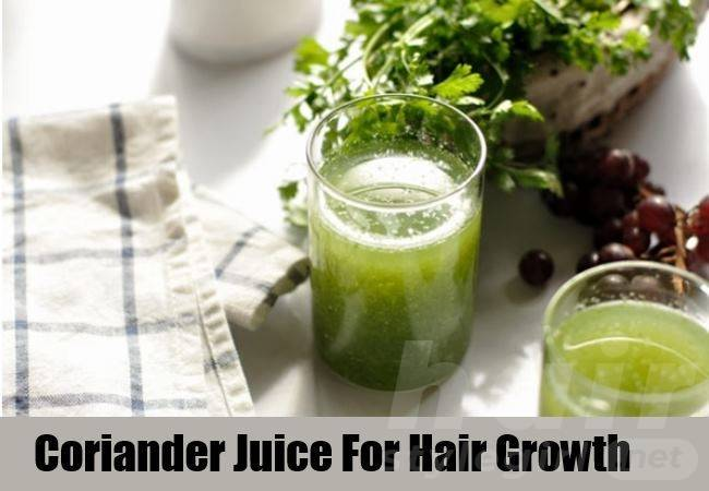 Coriander Juice for Hair