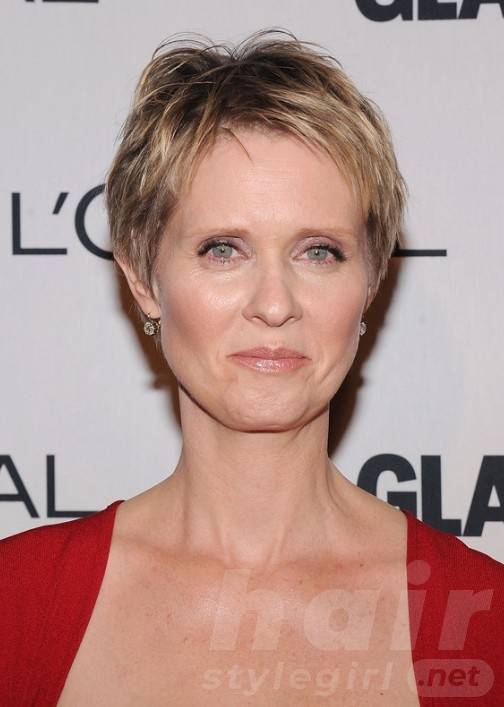 cynthia-nixon-layered-short-pixie-cut