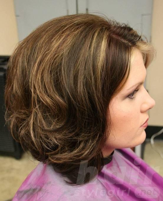 Long Layered Stacked Bob Haircut for Curly Wavy Hair
