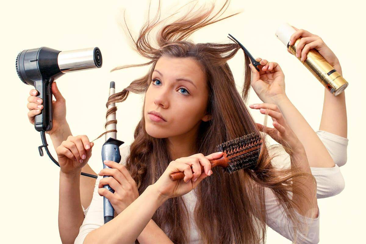 Over Use of Hair Products