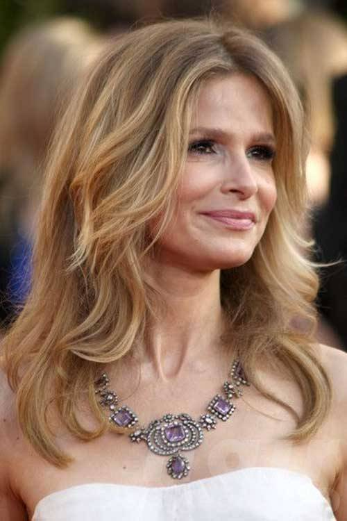 Long Layered Hairstyle for Older Women