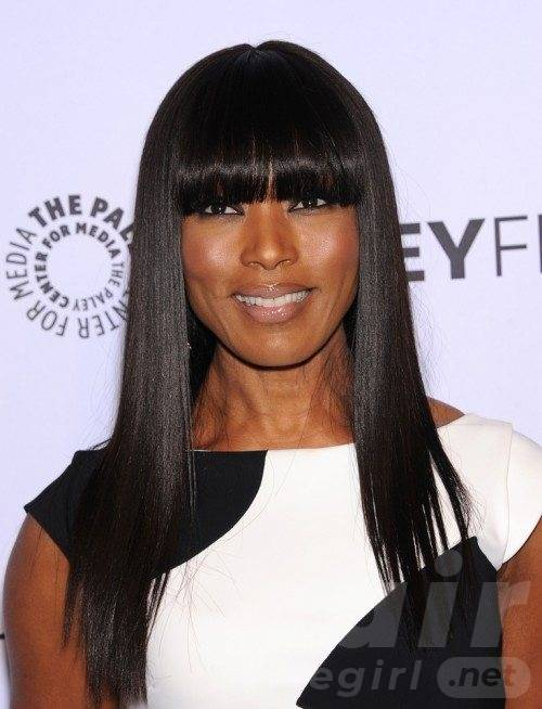 Long Sleek Straight Hair with Bangs