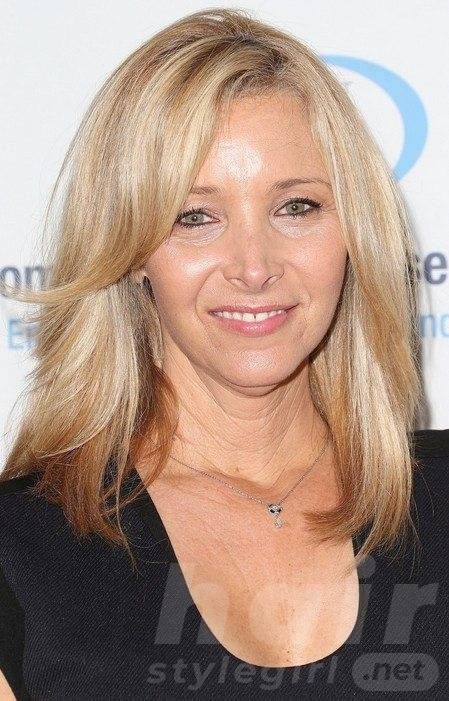 Long Blonde Hairstyle for Women Over 50