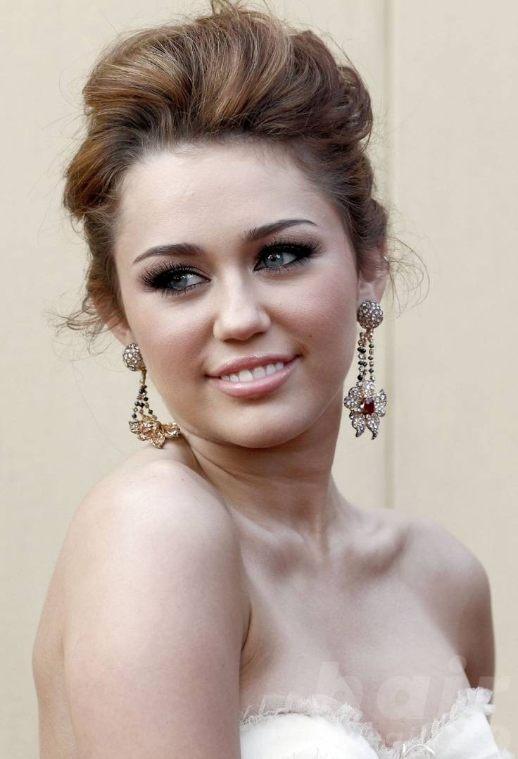 Miley Cyrus Up-do Hairstyle