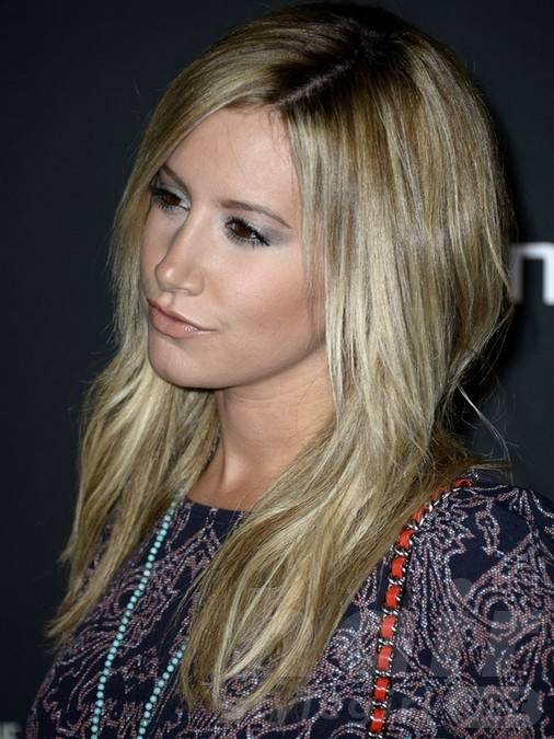 2014 Ashley Tisdale Hairstyles: Medium Straight Hair