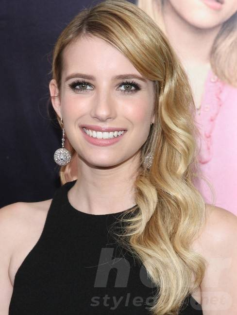 2014 Emma Roberts Hairstyles: Soft Long Wavy Hair