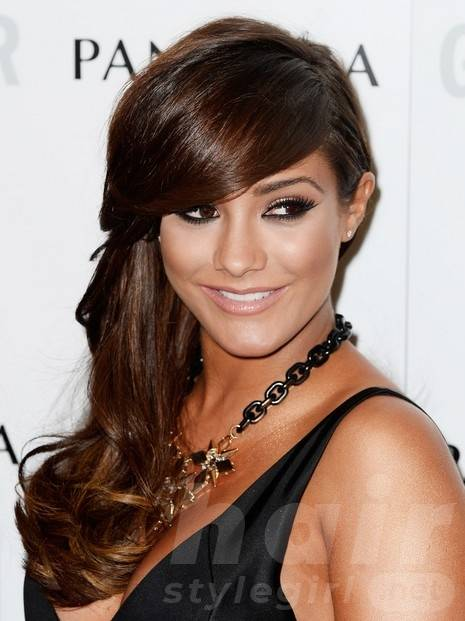 2014 Frankie Sandford Long Hairstyles: Long Hair with Side Bangs
