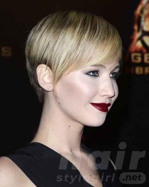 2014 Jennifer Lawrence Hairstyles: Best Short Pixie Haircut