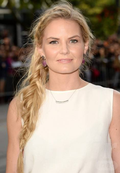 2014 Jennifer Morrison Long Hairstyles: Messy Braided Hair Style