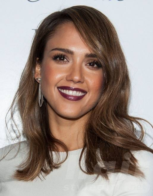 2014 Jessica Alba Long Hairstyles: Straight Hair