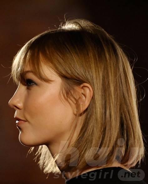 2014 Karlie Kloss Hairstyles: Classic Bob Haircut