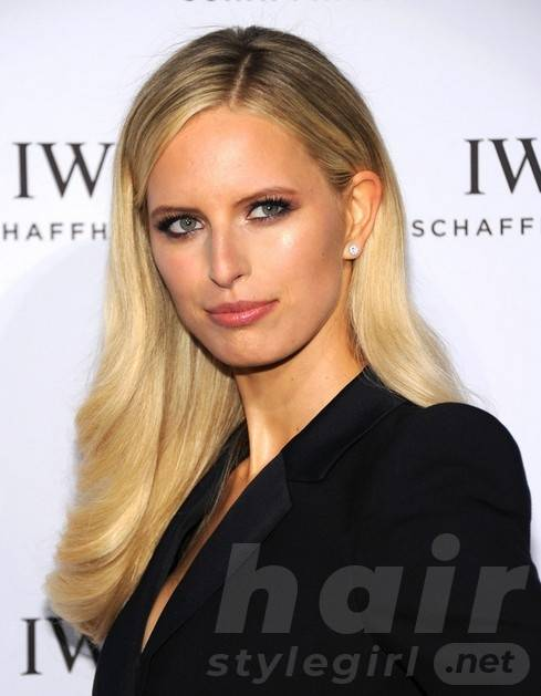 2014 Karolina Kurkova Hairstyles: Blonde Long Hair
